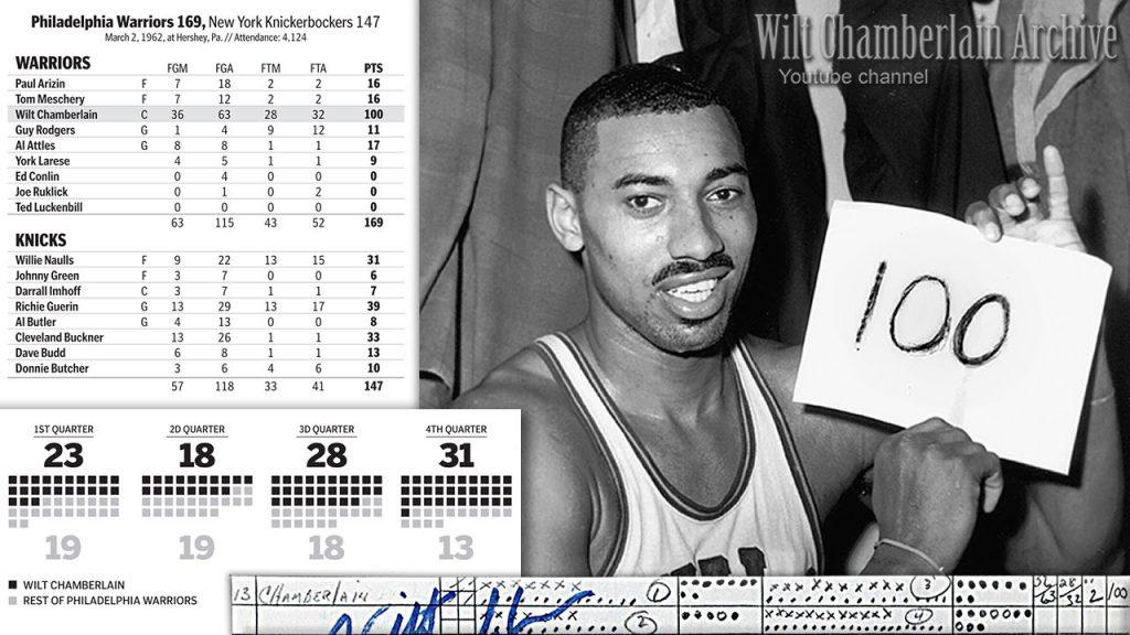 100 point game Chamberlain