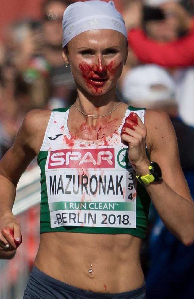 Volha Mazuronak blood