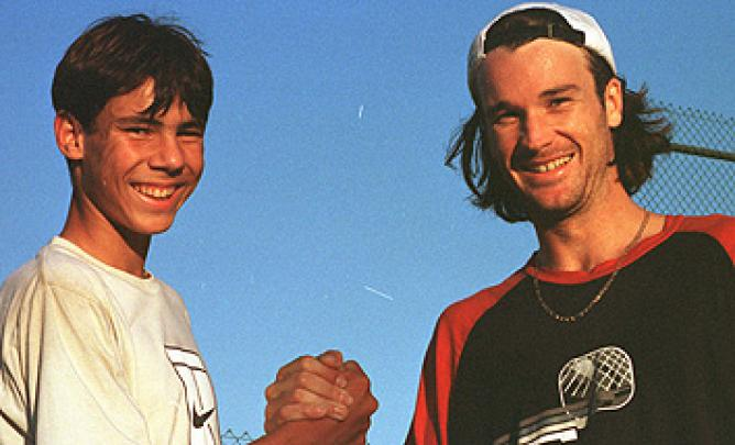 primer encuentro Rafa Nadal y Carlos Moya